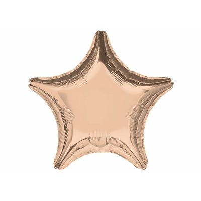 Ballon mylar aluminium étoile rose gold