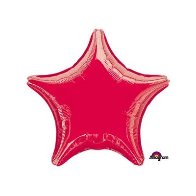 Ballon mylar aluminium étoile rouge