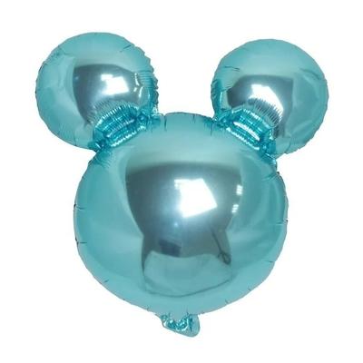 Ballon mylar tête de Mickey bleu ciel