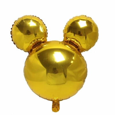 Ballon mylar tête de mickey or