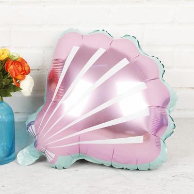 Ballon mylar aluminium coquillage rose