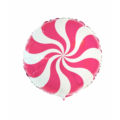 Ballon mylar candy hélice rose