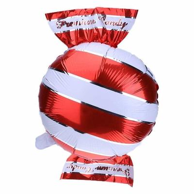 Ballon mylar aluminium bonbon rouge