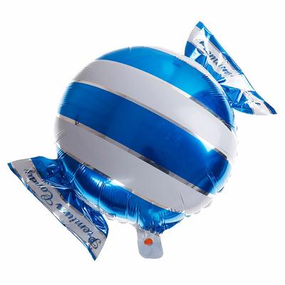 Ballon mylar aluminium bonbon bleu