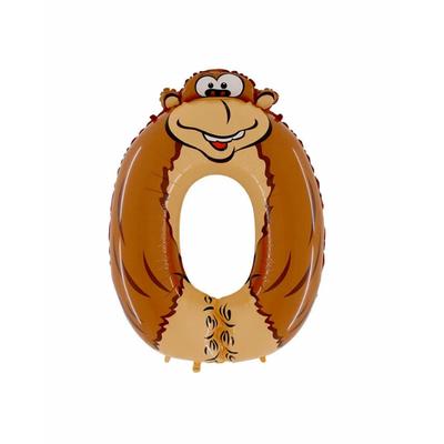Ballon chiffre 0 singe