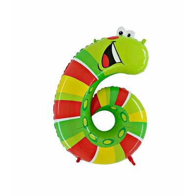 Ballon chiffre 6 grenouille