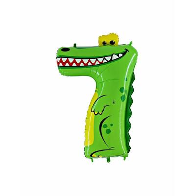 Ballon chiffre 7 crocodile