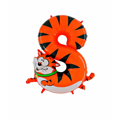 Ballon chiffre 8 chat