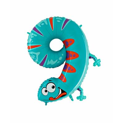 Ballon chiffre 9 salamandre