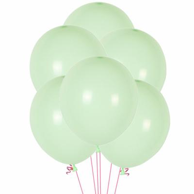 12 ballons latex vert menthe