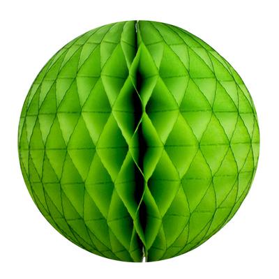 Boule papier Alvéolé 25 cm verte