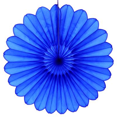 Eventail en papier bleu marine