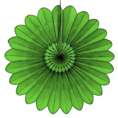 Eventail en papier vert