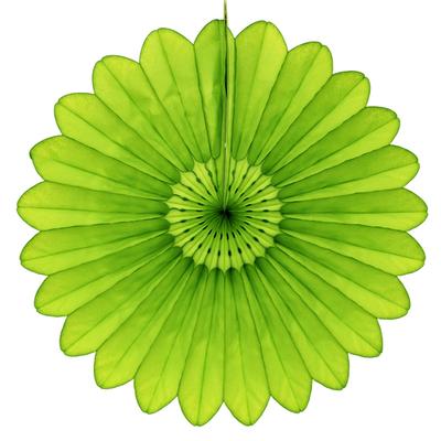 Eventail en papier vert anis