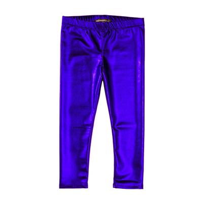 Legging métallisé enfant bleu roy