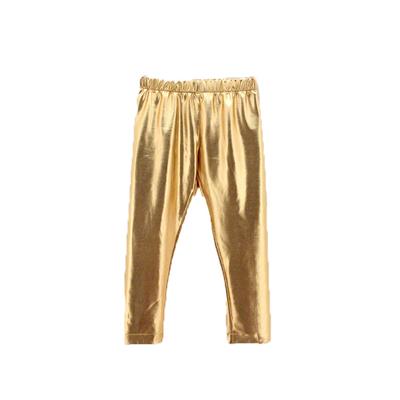 Legging métallisé enfant doré