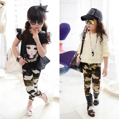 Legging enfant imprimé militaire