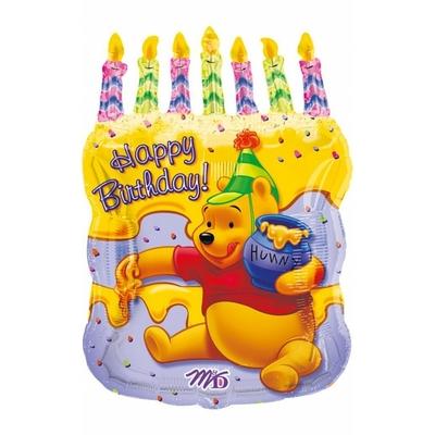 Ballon Winnie anniversaire en aluminium