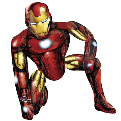 Ballon géant aluminium ou mylar Iron man airwalker