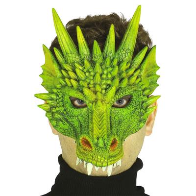 Masque de dragon vert