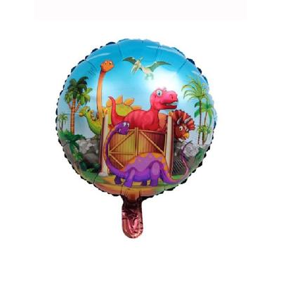 Ballon aluminium Dinosaures