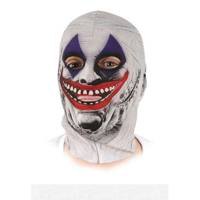 Masque Cagoule lycra clown effrayant