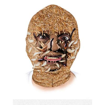 Masque Cagoule lycra monstre avec vers