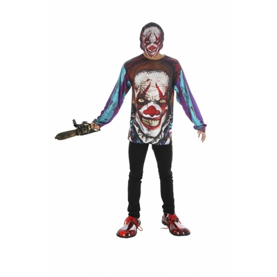 Tee shirt 3d clown avec masque