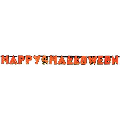 Guirlande lettre happy halloween