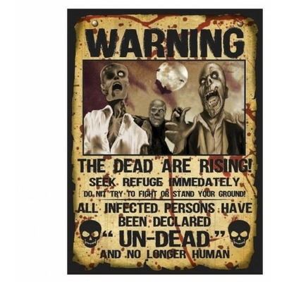 AFFICHES WARNING ZOMBIE