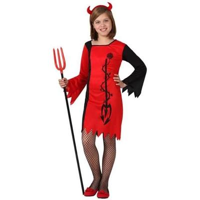 Déguisement de diablesse enfant rouge et noir
