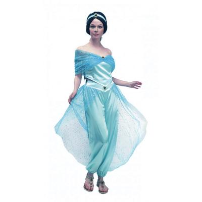 Déguisement de princesse orientale bleue Jasmine