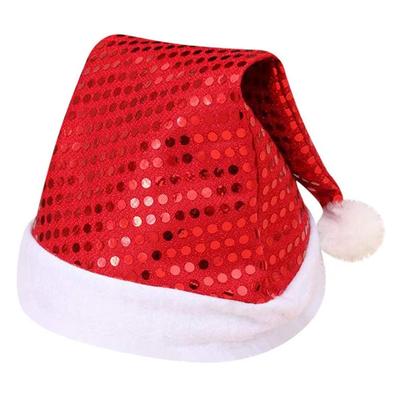 Bonnet de Noel à paillettes rouges