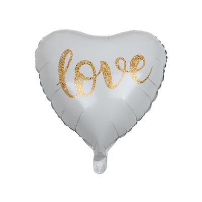 Ballon mylar coeur blanc LOVE