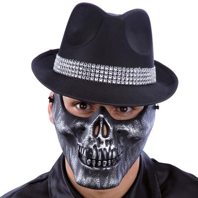 Demi masque squelette doré ou argenté