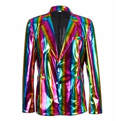 Veste blaser métallisée rainbow
