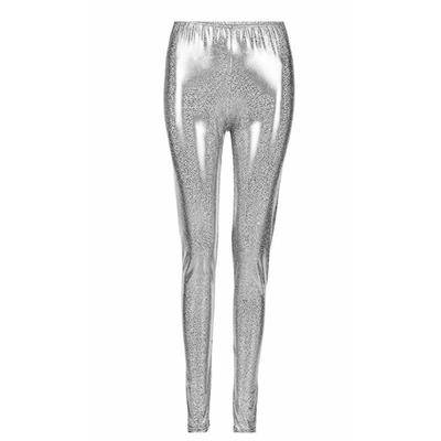 Legging métallisé laser argent