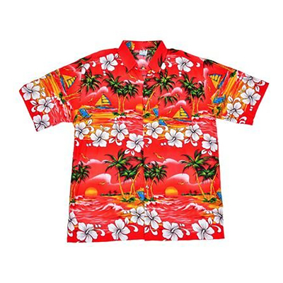 Chemise hawaienne rouge