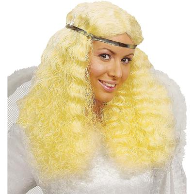 Perruque blonde longue ondulée