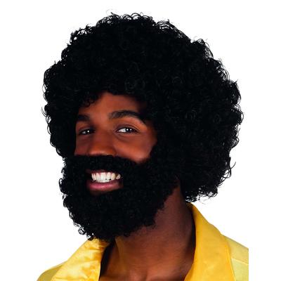 Perruque manbo avec barbe et moustache