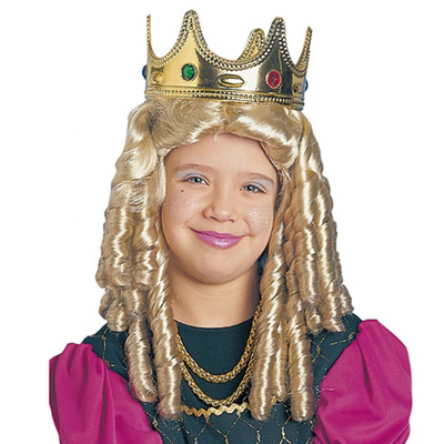 Perruque de princesse blonde pour enfant