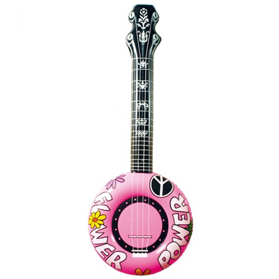 banjo gonflable rose