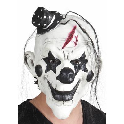 Masque clown tueur noir et blanc
