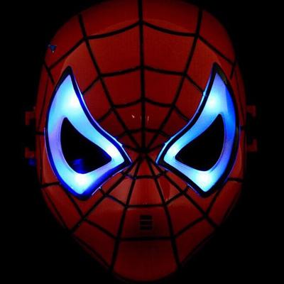 Masque homme araignée à leds enfant