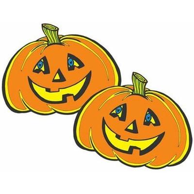 3 Décors Halloween En Carton Citrouille