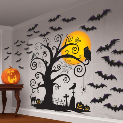 Décoration murale arbre halloween