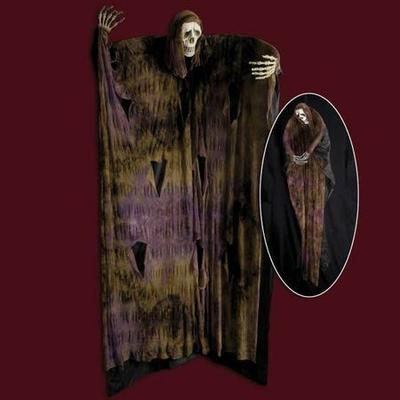 Suspension Halloween squelette Noir 180Cm