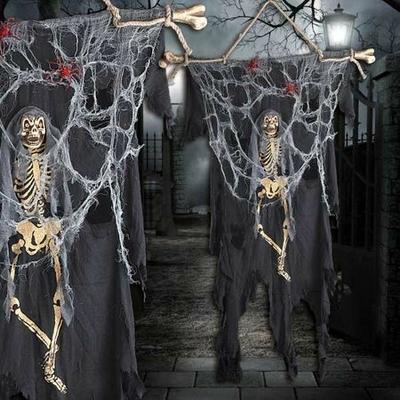 Drapeau Squelette Halloween 160Cm