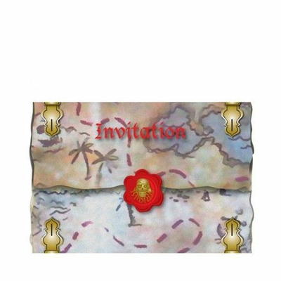 8 Invitations Pirate 11Cm X 15 Cm Avec Enveloppes