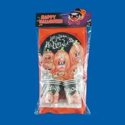 Kit Vaisselle Jetable Halloween 6 Personnes